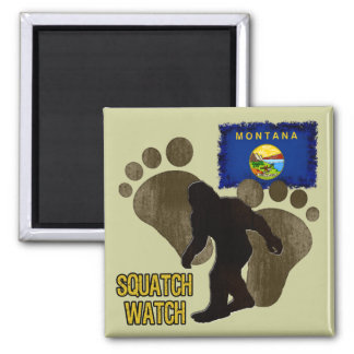 Montana Squatch Watch 2 Inch Square Magnet