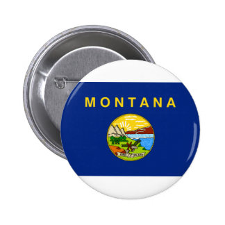Montana State Flag 2 Inch Round Button