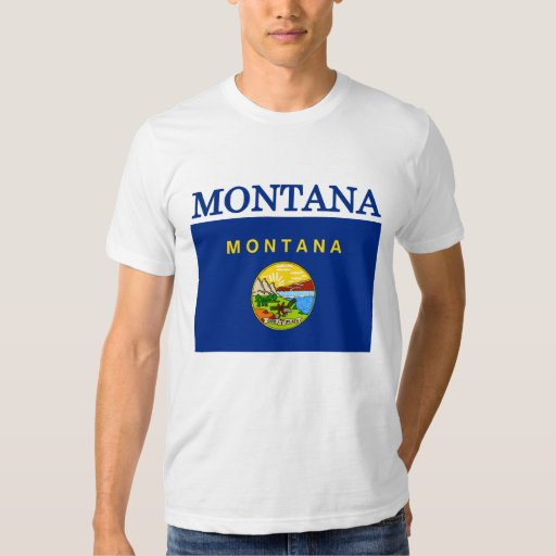 Montana State Flag American Apparel T-shirt