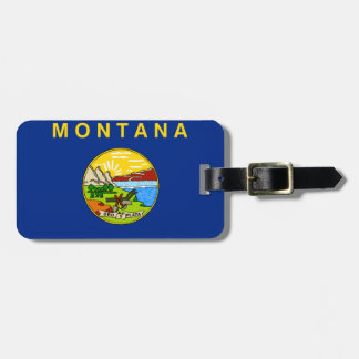 Montana State Flag Bag Tag