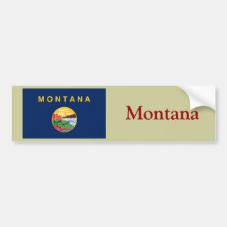 Montana State Flag Bumper Sticker
