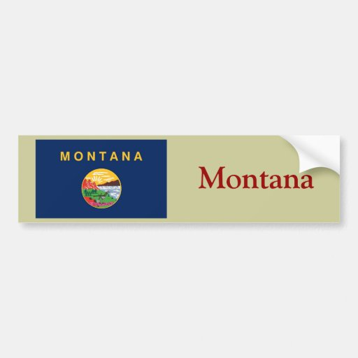 Montana State Flag Bumper Stickers