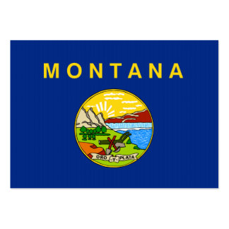 Montana State Flag Business Cards
