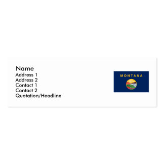 Montana State Flag Business Card