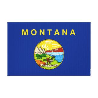 Montana State Flag Canvas Print
