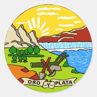 Montana State Flag Classic Round Sticker