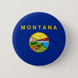 Montana State Flag Design Button