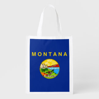 Montana State Flag Design Grocery Bag