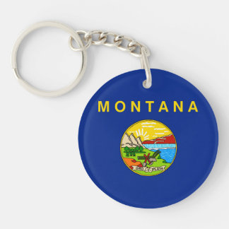 Montana State Flag Design Keychain