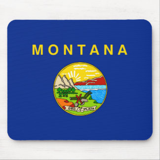 Montana State Flag Design Mouse Pad