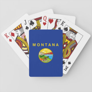Montana State Flag Design Playing Cards