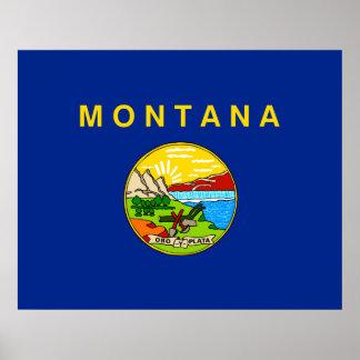 Montana State Flag Design Poster