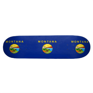 Montana State Flag Design Skateboard Deck
