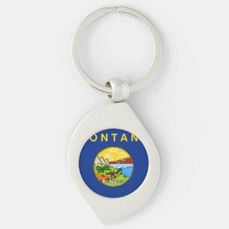 Montana State Flag Keychain