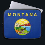 "Montana State Flag Laptop Sleeve<br><div class=""desc"">Elegant Laptop Sleeve with Montana State Flag. United States of America. This product its customizable.</div>"