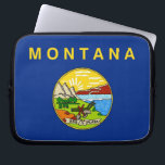 """Montana State Flag Laptop Sleeve<br><div class=""""desc"""">Elegant Laptop Sleeve with Montana State Flag. United States of America. This product its customizable.</div>"""