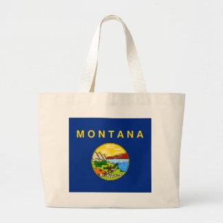Montana State Flag Large Tote Bag