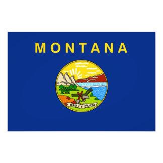 Montana State Flag Photograph