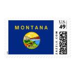 Montana State Flag Postage Stamp
