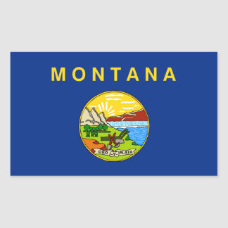 Montana state flag rectangular sticker