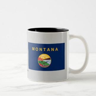 Montana State Flag Two-Tone Coffee Mug