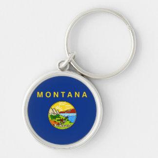 Montana state flag usa united america symbol keychain