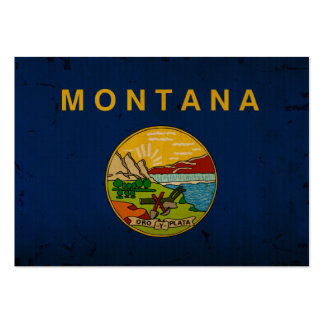 Montana State Flag VINTAGE.png Business Card Template