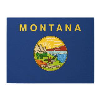 Montana State Flag Wood Canvas