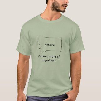 Montana state of happiness teeshirt map T-Shirt