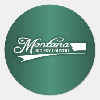 Montana State of Mine Classic Round Sticker
