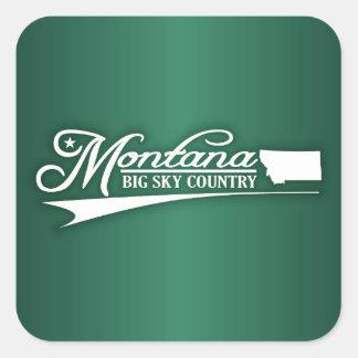 Montana State of Mine Square Sticker