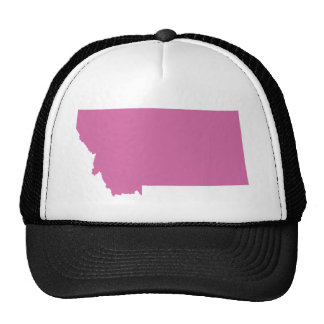 Montana State Outline Trucker Hats
