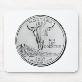 Montana State Quarter Mouse Pad