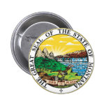 Montana State Seal 2 Inch Round Button