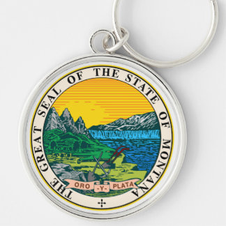 Montana state seal america republic symbol flag keychain