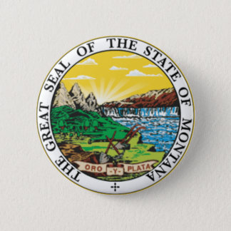 Montana State Seal Button
