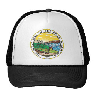 Montana State Seal Mesh Hats