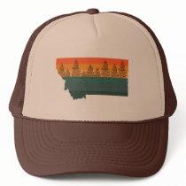 Montana State Tree Silhouette Trucker Hat