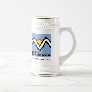 ¡Montaña Stein del hombre! Jarra De Cerveza