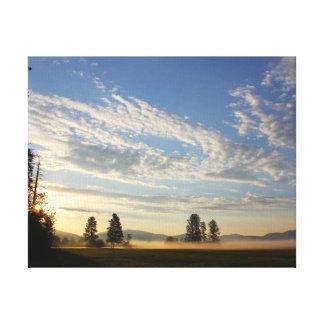 Montana sunrise gallery wrap canvas