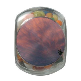 Montana Sunset Glass Jar