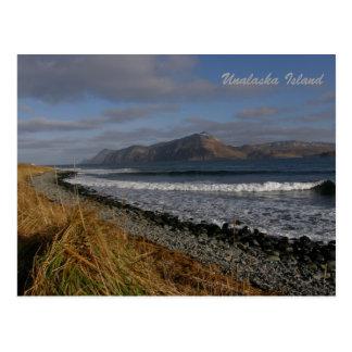 Montaña superior partida en la isla de Unalaska Postales