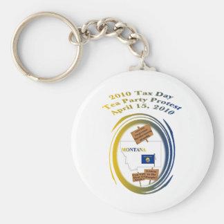 Montana Tax Day Tea Party Protest Keychain