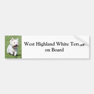 Montaña Terrier blanco del oeste a bordo personali Pegatina Para Auto