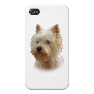Montaña Terrier blanco del oeste iPhone 4 Coberturas