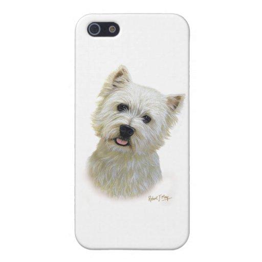 Montaña Terrier blanco del oeste iPhone 5 Fundas