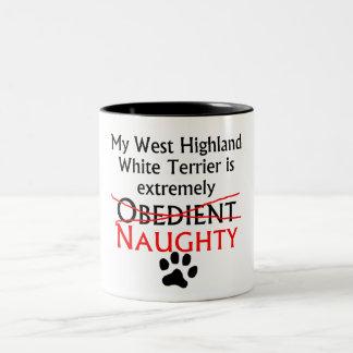 Montaña Terrier blanco del oeste traviesa Taza De Café