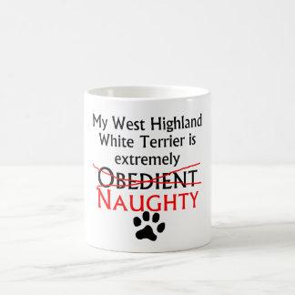 Montaña Terrier blanco del oeste traviesa Tazas De Café