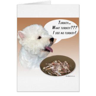 Montaña Terrier blanco del oeste Turquía Felicitacion