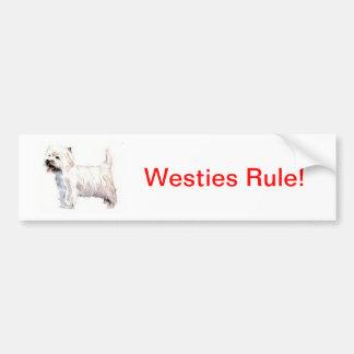Montaña Terrier blanco del oeste Westie Pegatina Para Auto